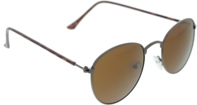 Vast twice_Round_METAL_BROWN_DEMMY Round Sunglasses(Brown)