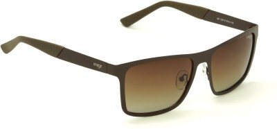 Image 491-C2P Brown Polarized Shaded Medium 57mm Wayfarer Wayfarer Sunglasses(Brown) at flipkart
