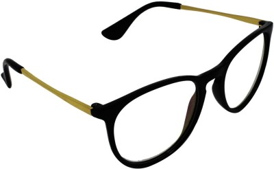 Aligatorr Slim Gold Side Over-sized Sunglasses(Clear)