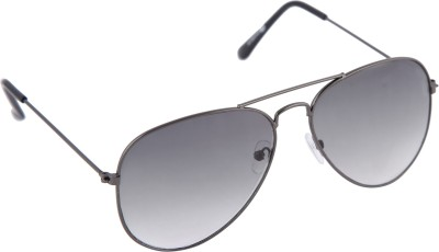 Gansta Gansta MH-1001 Grey with gradient polarised lens aviator sunglass Aviator Sunglasses(Grey)