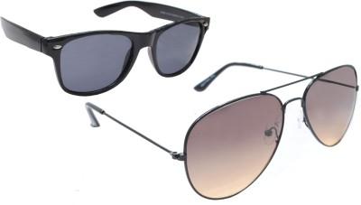 Sellebrity Elegant Combo Aviator With Wayfare Black Sunglasses Aviator Sunglasses