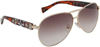 Camerii SOW99 Rectangular Sunglasses(Brown)