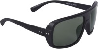 Camerii SOW106 Rectangular Sunglasses(Black)