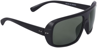 Camerii Black Frame with Black Shade Lens Rectangular Sunglasses
