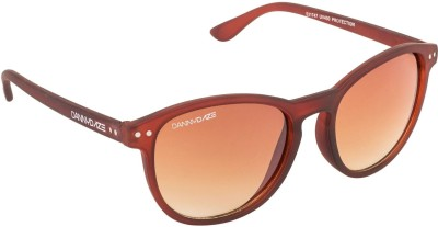 Danny Daze D-1712-C3 Round Sunglasses(Brown)