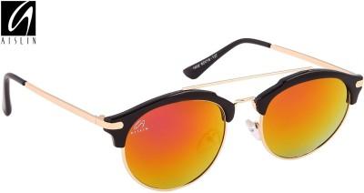 Aislin Premium Gatsby Flash Mirror Round Sunglasses