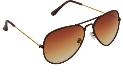 6by6 SG1245 Aviator Sunglasses(Brown)