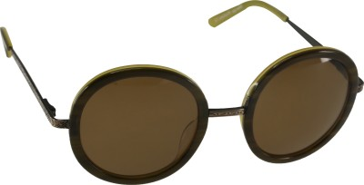 Mango Pickles RO-5008-Brown Round Sunglasses(Brown)