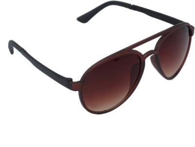 Gansta Gansta GN-11068 Brown aviator sunglass Aviator Sunglasses(Brown)