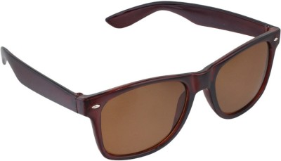 Allen Cate Dark Brown Wayfarer Sunglasses