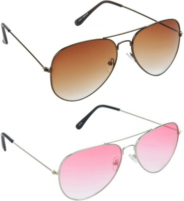 Red Leaf Combo Pack Aviator Sunglasses