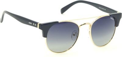 IDEE S2163-C4 Grey Polarized Shaded Round Sunglasses(Grey, Blue)
