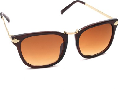 6by6 SG682 Rectangular Sunglasses(Brown)