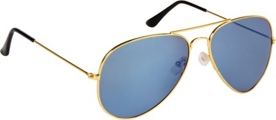 Cristiano Ronnie Blue Mirror Aviator Sunglasses