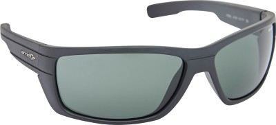 Arnette AN_4131_PLBLKBLK Rectangular Sunglasses(Black)