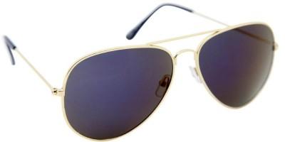 Gansta Gansta MH-1016 Classic gold aviator sunglass with purple mirror lens Aviator Sunglasses(Violet)