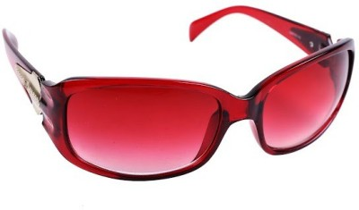 New Zovial Maroon Touch Oval Sunglasses