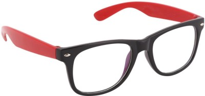 Agera Black & Red clear lens Wayfarer Sunglasses