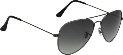 Fave FAV010 Aviator Sunglasses(Black)