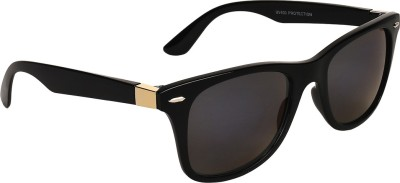 Zyaden Way21 Wayfarer Sunglasses(Black)