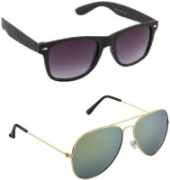 Irayz IRZ_301 Aviator Sunglasses(Green)