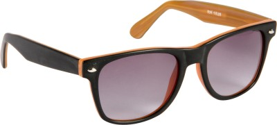 Cristiano Ronnie Matt. Black & wood finish Wayfarer Sunglasses