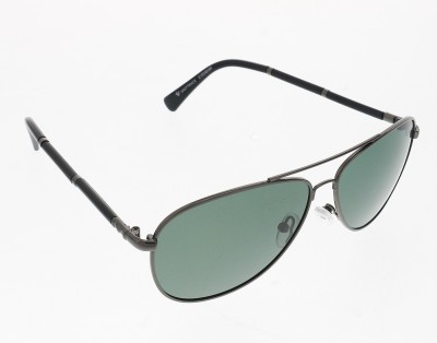 Vast 5057men_women_polarized_shiny_metal_grey_avaitor Rectangular Sunglasses(Grey)