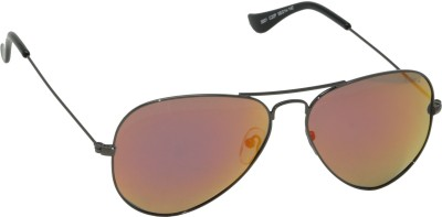 IDEE IDEE-2001-C22P Aviator Sunglasses(Red, Multicolor)