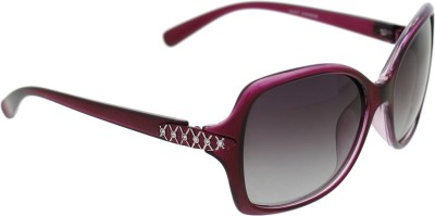 Vast WOMENS XX DIAMONDWINE PURPLISH RED Oval Sunglasses(Grey)