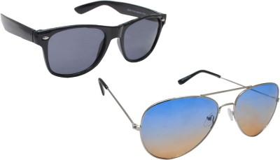 Sellebrity Elegant Combo Classic Aviator With Wayfare Black Sunglasses Aviator Sunglasses