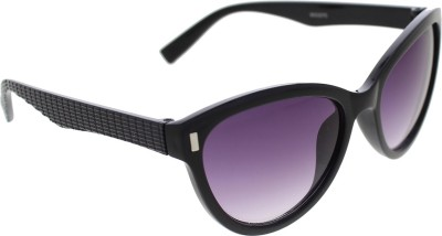 Vast WOMENS _3075_PIN_CATEYE_BLACK_GLARES Wayfarer Sunglasses(Grey)