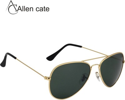 Allen Cate Trendy Golden Aviator Sunglasses