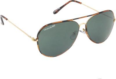 Danny Daze D-602-C6 Aviator Sunglasses(Black)