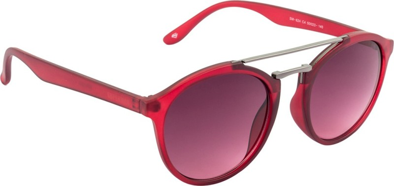 Superman SM-624-C4 Round Sunglasses(Pink)