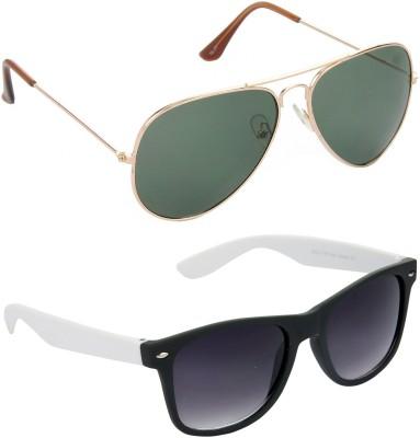 Hrinkar Combo Pack Aviator Sunglasses