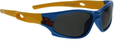 Vast KIDS_SMART_SPORTS_SPECIAL_LIGHT_BLUE_YELLOW Sports Sunglasses(For Boys)