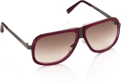 Gio Collection 530 red P12188 Rectangular Sunglasses(Brown) at flipkart