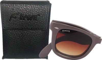 Fave FV015F03U Wayfarer Sunglasses(Brown)