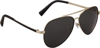 PANACHE FELICITY_AVIATOR_BLACK GOLDEN FRAME_G15 LENS Aviator Sunglasses