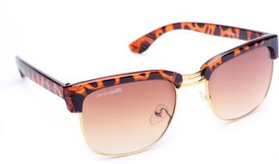 Danny Daze D-1206-C4 Wayfarer Sunglasses(Brown)