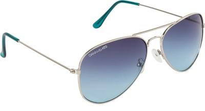 Danny Daze D-3000-C6 Aviator Sunglasses(Blue)