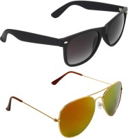 Zyaden COM4 Wayfarer, Aviator Sunglasses(Multicolor)