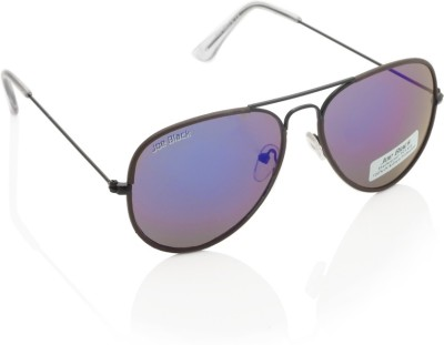 Joe Black JB-601-C8 Aviator Sunglasses(Violet, Blue)