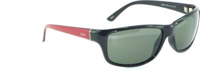 IDEE IDEE-2006-C3-P Wrap-around Sunglasses(Green)