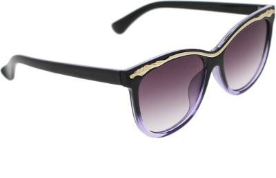 Vast Women_96022_BLKPURPLEGOLD Over-sized Sunglasses(Grey)