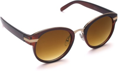 6by6 SG743 Round Sunglasses(Brown)
