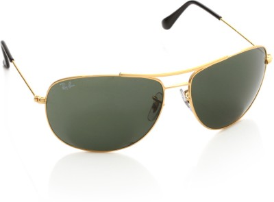Ray-Ban 0RB3412I 001 Oval Sunglasses(Green)