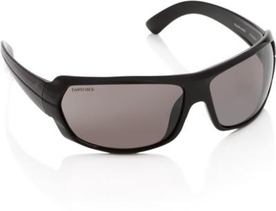 Fastrack P190BK1 Wrap-around Sunglasses(Brown)