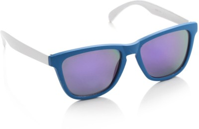 Joe Black 6280-C10 Wayfarer Sunglasses(Violet, Blue)