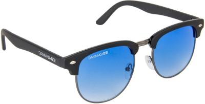 Danny Daze D-2000-C6 Round Sunglasses(Blue)